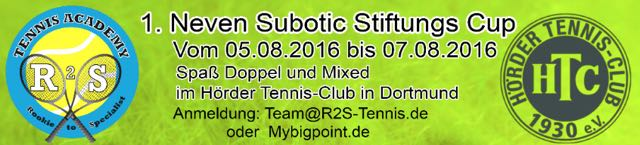 Hoerder Tennis-Club: 1. Neven Subotic Stiftungs-Cup